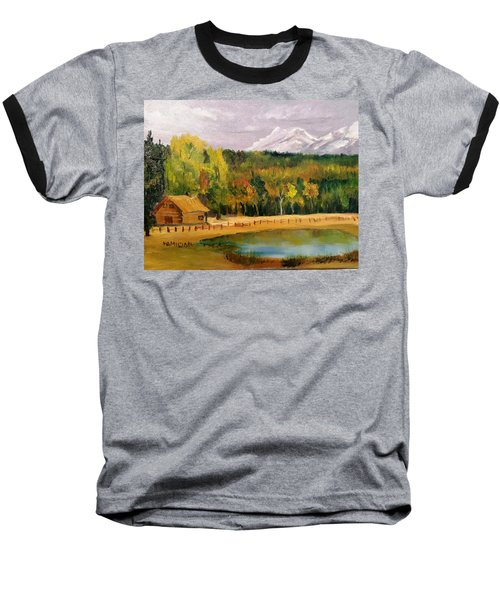 Road To Kintla Lake Baseball T-Shirt by Larry Hamilton