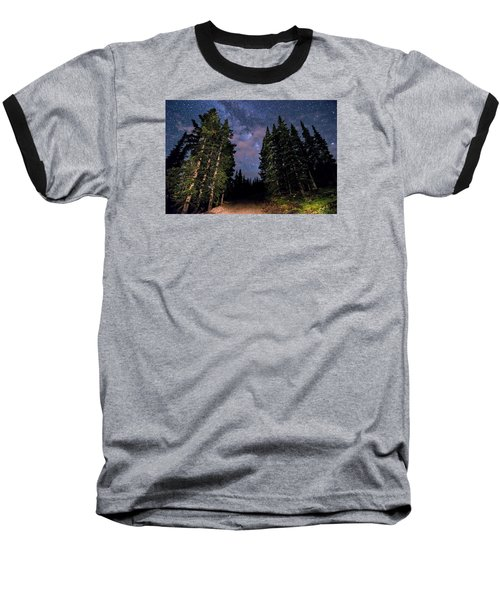 Road To Milky Way Baseball T-Shirt by Michael J Bauer