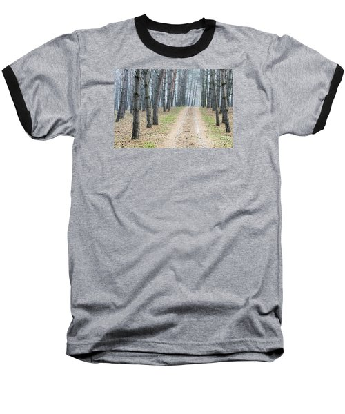 Road To Pine Forest Baseball T-Shirt by Odon Czintos