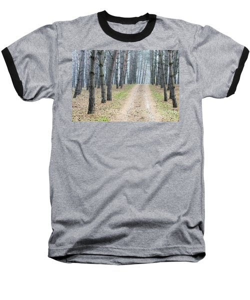 Road To Pine Forest Baseball T-Shirt