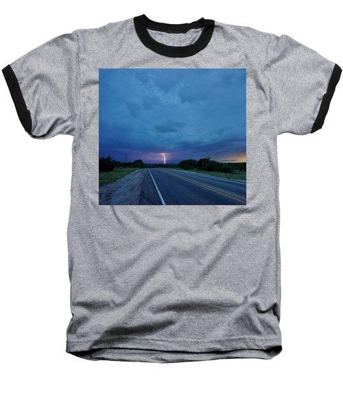 Lightning Over Sonora Baseball T-Shirt by Ed Sweeney