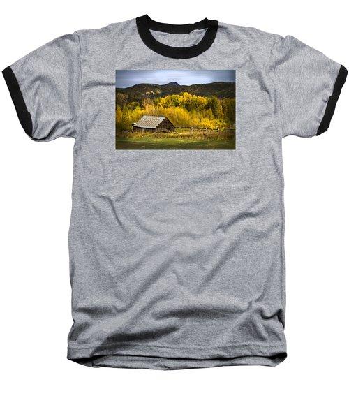 Road To Steamboat Lake Baseball T-Shirt by John Hix