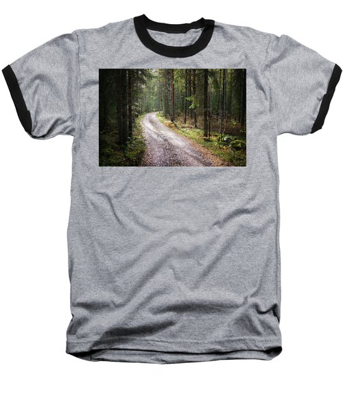 Road To The Light Baseball T-Shirt by Teemu Tretjakov