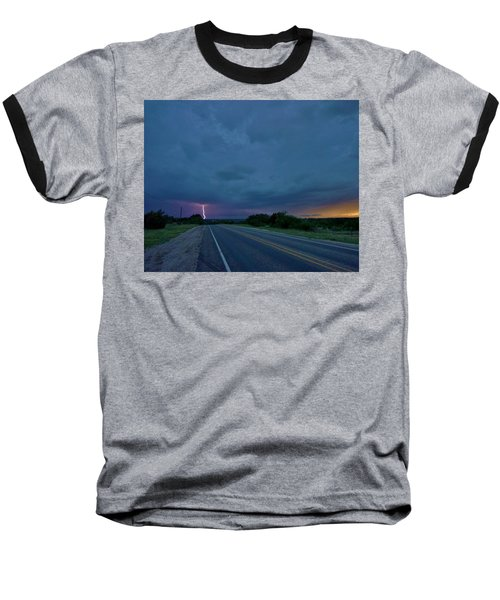 Road To The Storm Baseball T-Shirt by Ed Sweeney