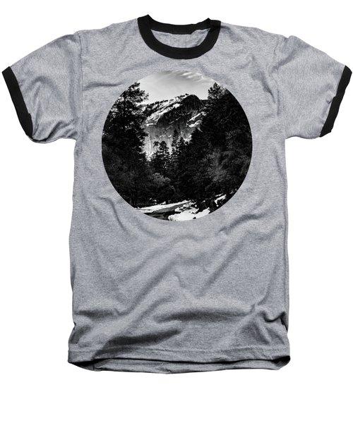 Road To Wonder, Black And White Baseball T-Shirt