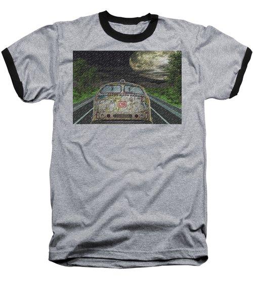 Road Trip In The Rain Baseball T-Shirt by Angela Hobbs
