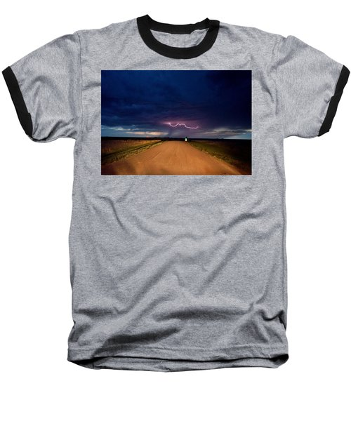 Road Under The Storm Baseball T-Shirt by Ed Sweeney