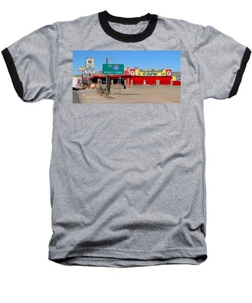 Roadkill Cafe, Route 66, Seligman Arizona Baseball T-Shirt