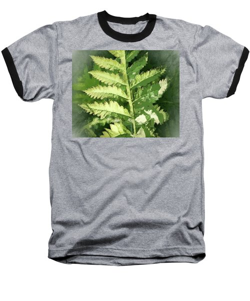 Roadside Fern, Abstract 2 - Baseball T-Shirt