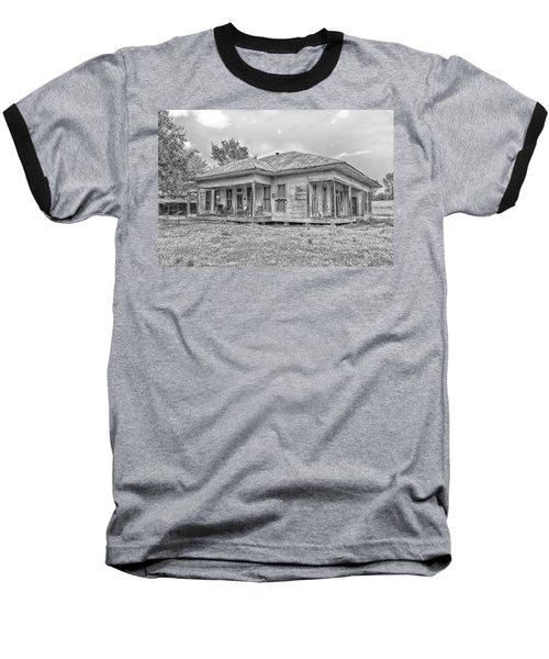 Roadside Old House Baseball T-Shirt