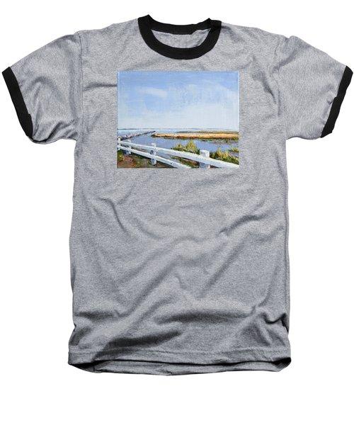 Roadside P-town Baseball T-Shirt by Trina Teele
