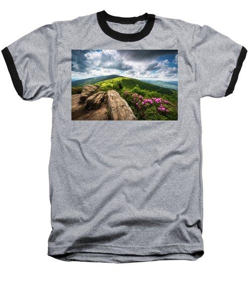 Roan Mountain Radiance Appalachian Trail Nc Tn Mountains Baseball T-Shirt