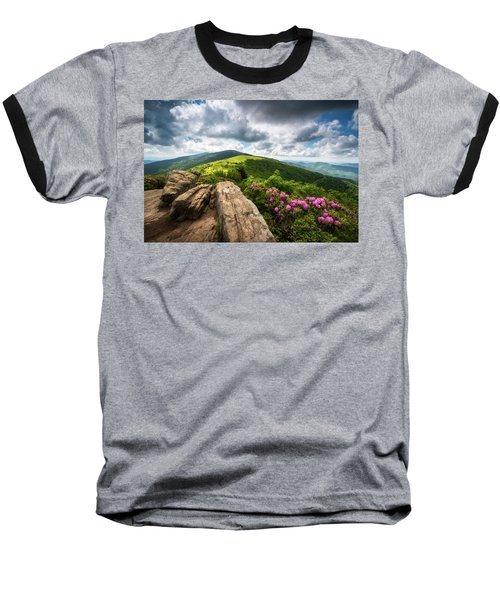 Roan Mountain Radiance Appalachian Trail Nc Tn Mountains Baseball T-Shirt