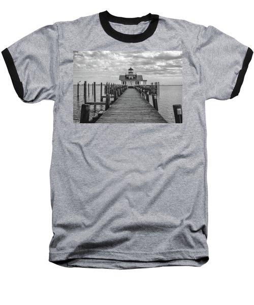 Roanoke Marshes Light Baseball T-Shirt by David Sutton