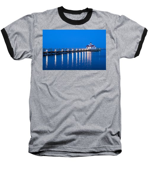 Baseball T-Shirt featuring the photograph Roanoke Marshes Lighthouse Revisited by Marion Johnson
