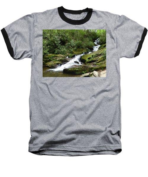 Baseball T-Shirt featuring the photograph Roaring Fork Falls June 2017 by Joel Deutsch
