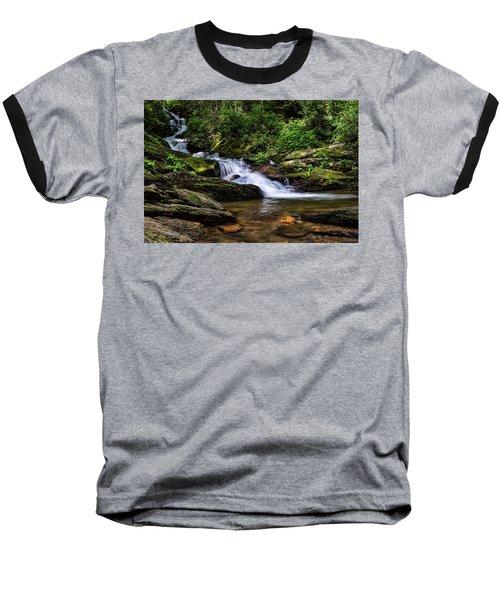 Roaring Fork Waterfall Baseball T-Shirt