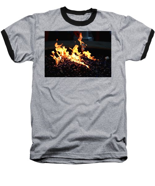 Baseball T-Shirt featuring the photograph Roasting Marshmellows by Cathy Harper