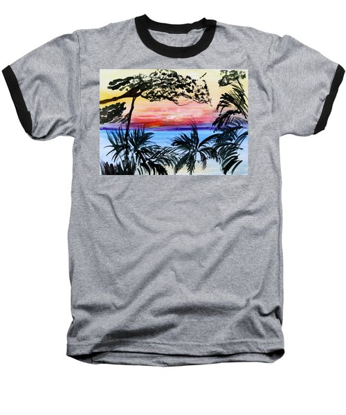 Roatan Sunset Baseball T-Shirt
