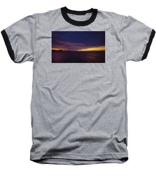 Baseball T-Shirt featuring the photograph Roatan Sunset by Stephen Anderson
