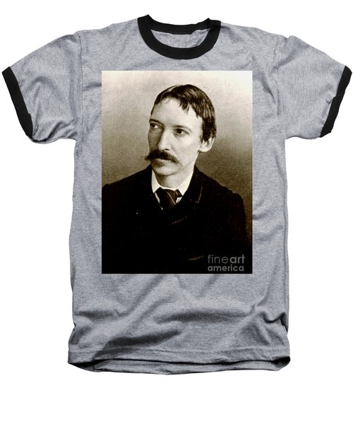 Baseball T-Shirt featuring the photograph Robert Louis Stevenson by Pg Reproductions