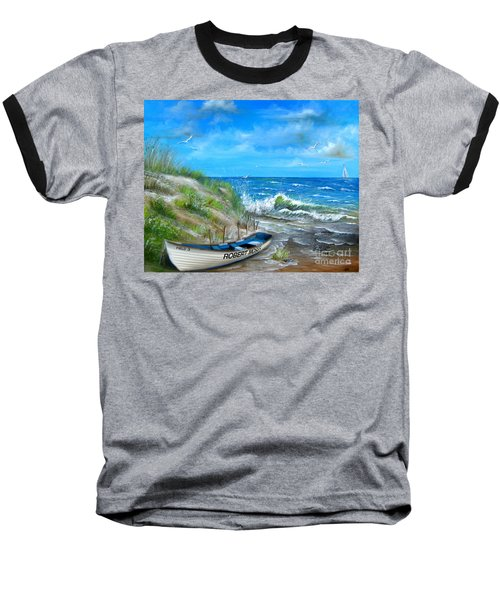 Robert Moses Beach Baseball T-Shirt