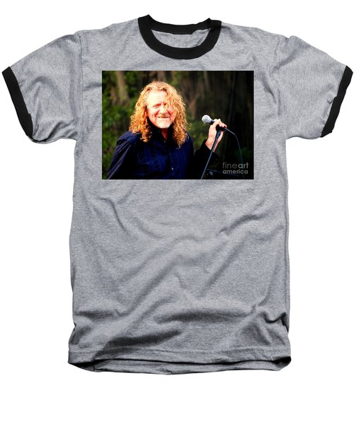 Robert Plant Baseball T-Shirt by Angela Murray