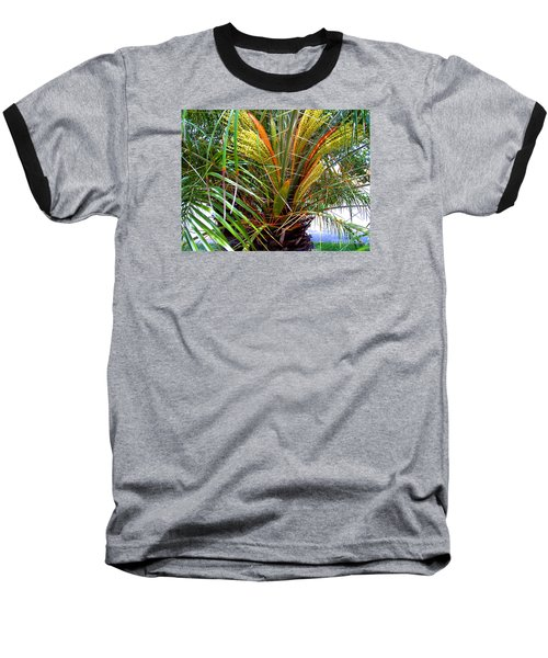 Robillini Palm In Bloom Baseball T-Shirt by Merton Allen