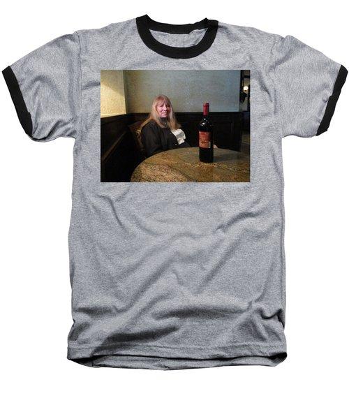 Robin At The Cafe Baseball T-Shirt