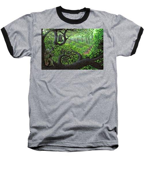 Baseball T-Shirt featuring the painting Robin Hood by Dave Luebbert