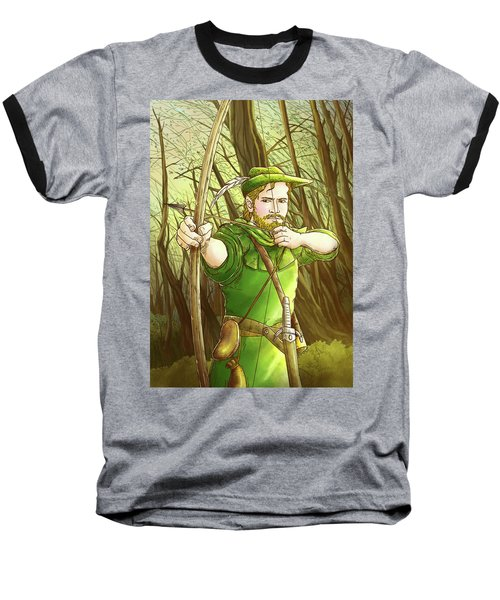 Robin  Hood In Sherwood Forest Baseball T-Shirt by Reynold Jay