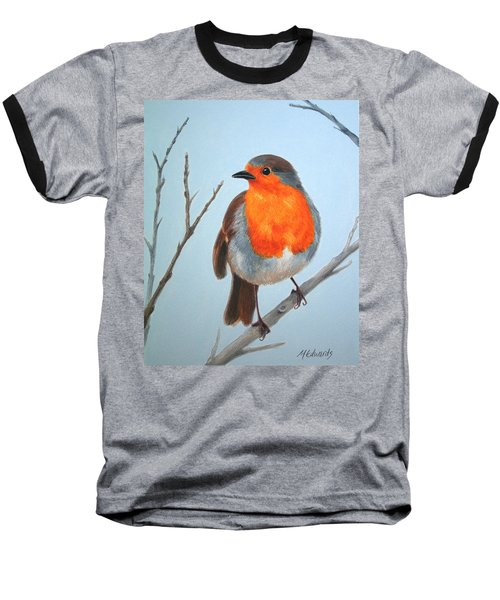 Robin In The Tree Baseball T-Shirt by Marna Edwards Flavell
