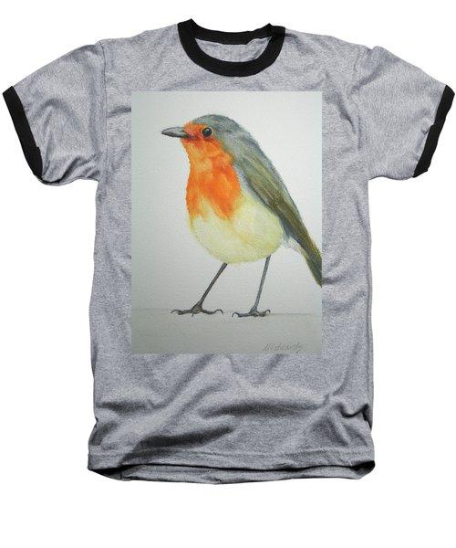 Robin Baseball T-Shirt by Marna Edwards Flavell