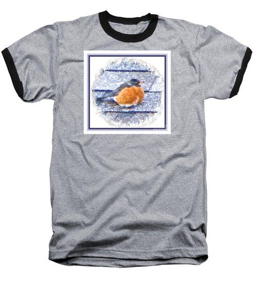 Robin Too Fat To Fly Baseball T-Shirt