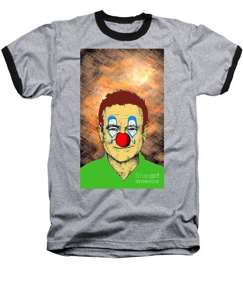 Robin Williams 1 Baseball T-Shirt by Jason Tricktop Matthews