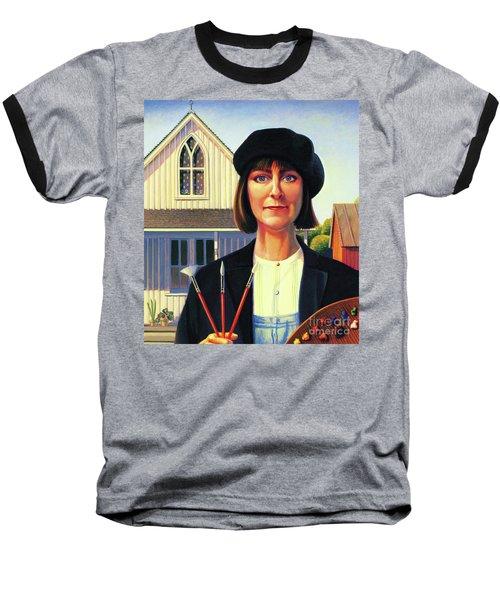 Robin Wood Self-portrait Baseball T-Shirt