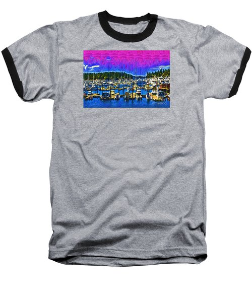 Baseball T-Shirt featuring the digital art Roche Harbor 1 by Kirt Tisdale
