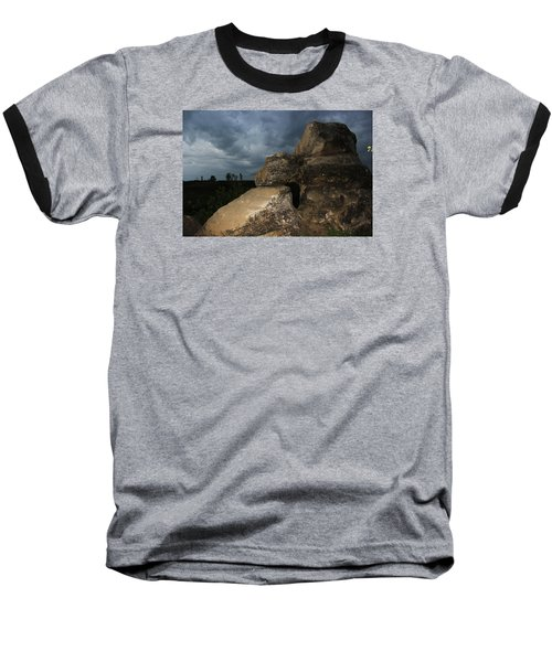 Baseball T-Shirt featuring the photograph Roche Percee Peak by Ryan Crouse
