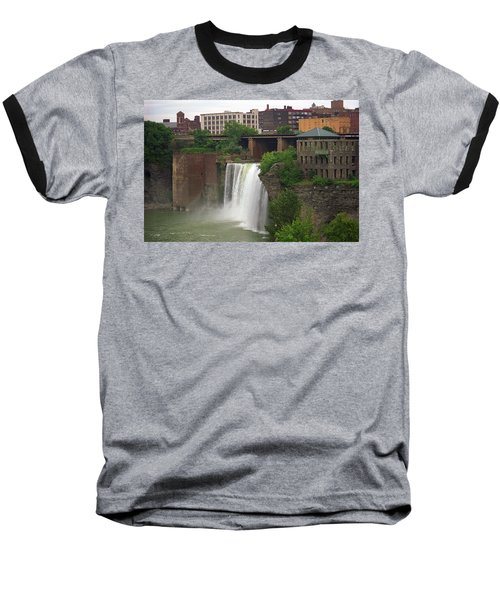 Baseball T-Shirt featuring the photograph Rochester, New York - High Falls 2 by Frank Romeo