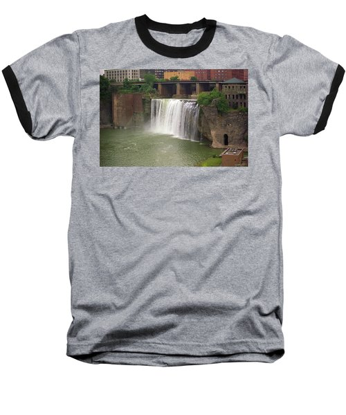 Baseball T-Shirt featuring the photograph Rochester, New York - High Falls by Frank Romeo