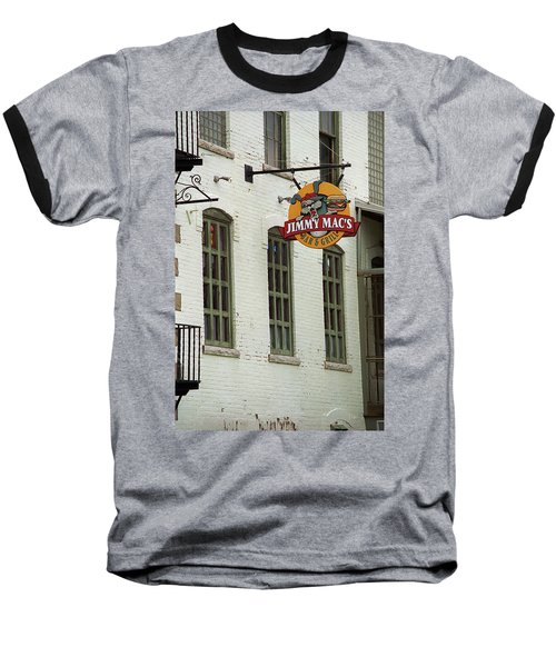 Baseball T-Shirt featuring the photograph Rochester, New York - Jimmy Mac's Bar 3 by Frank Romeo