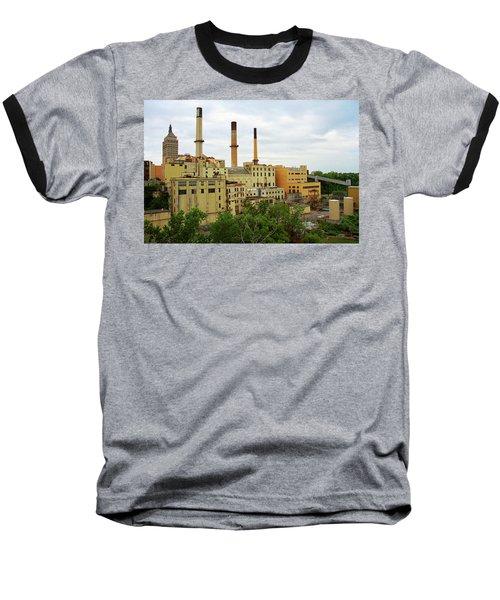 Rochester, Ny - Factory And Smokestacks 2005 Baseball T-Shirt by Frank Romeo