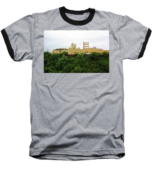 Baseball T-Shirt featuring the photograph Rochester, Ny - Factory On A Hill by Frank Romeo
