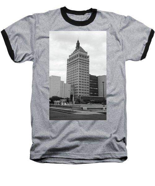 Rochester, Ny - Kodak Building 2005 Bw Baseball T-Shirt