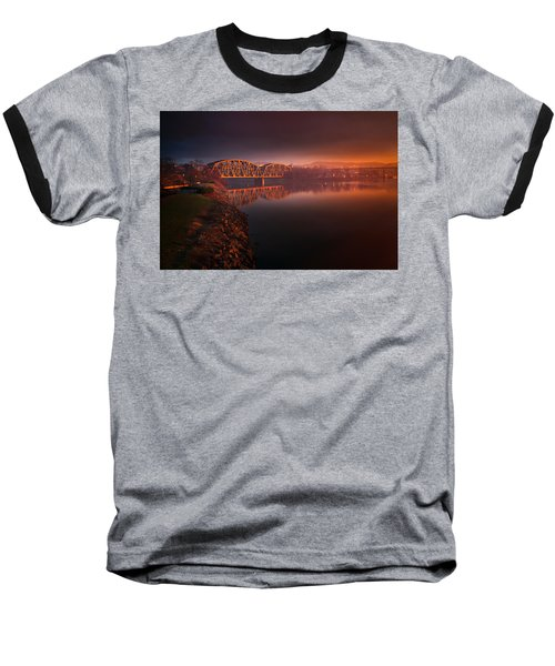 Rochester Train Bridge  Baseball T-Shirt