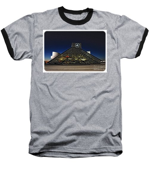 Rock And Roll Hall Of Fame - Cleveland Ohio - 5 Baseball T-Shirt