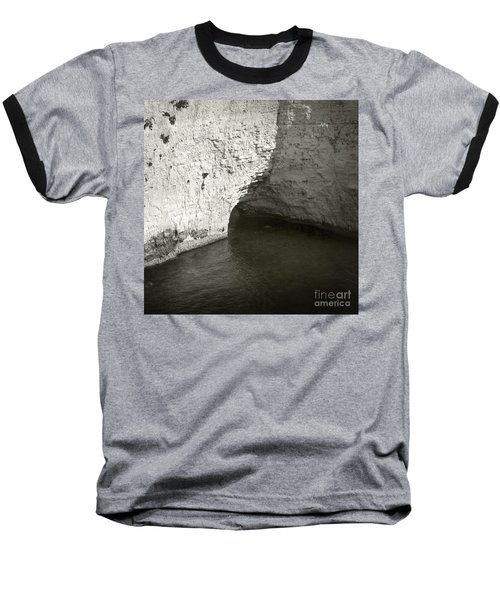 Baseball T-Shirt featuring the photograph Rock And Water by Sebastian Mathews Szewczyk