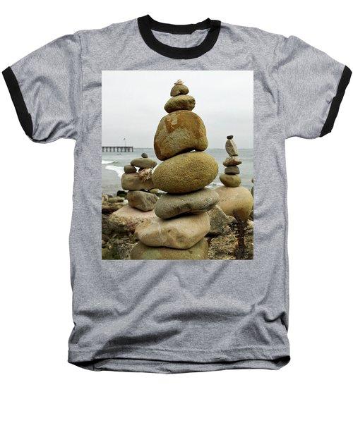 Rock Art Baseball T-Shirt by Joe  Palermo