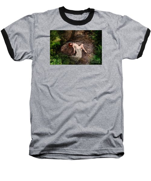 Rock Bathing Baseball T-Shirt