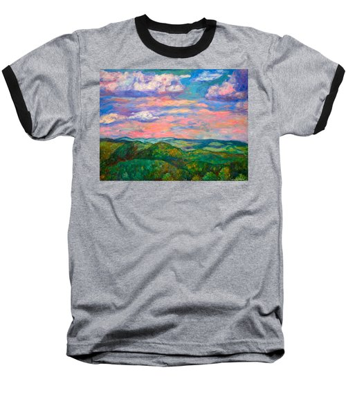 Baseball T-Shirt featuring the painting Rock Castle Gorge by Kendall Kessler
